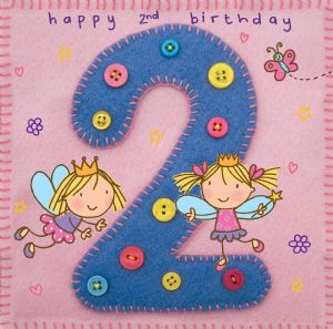 Age 2 Fairy Birthday Card TW251